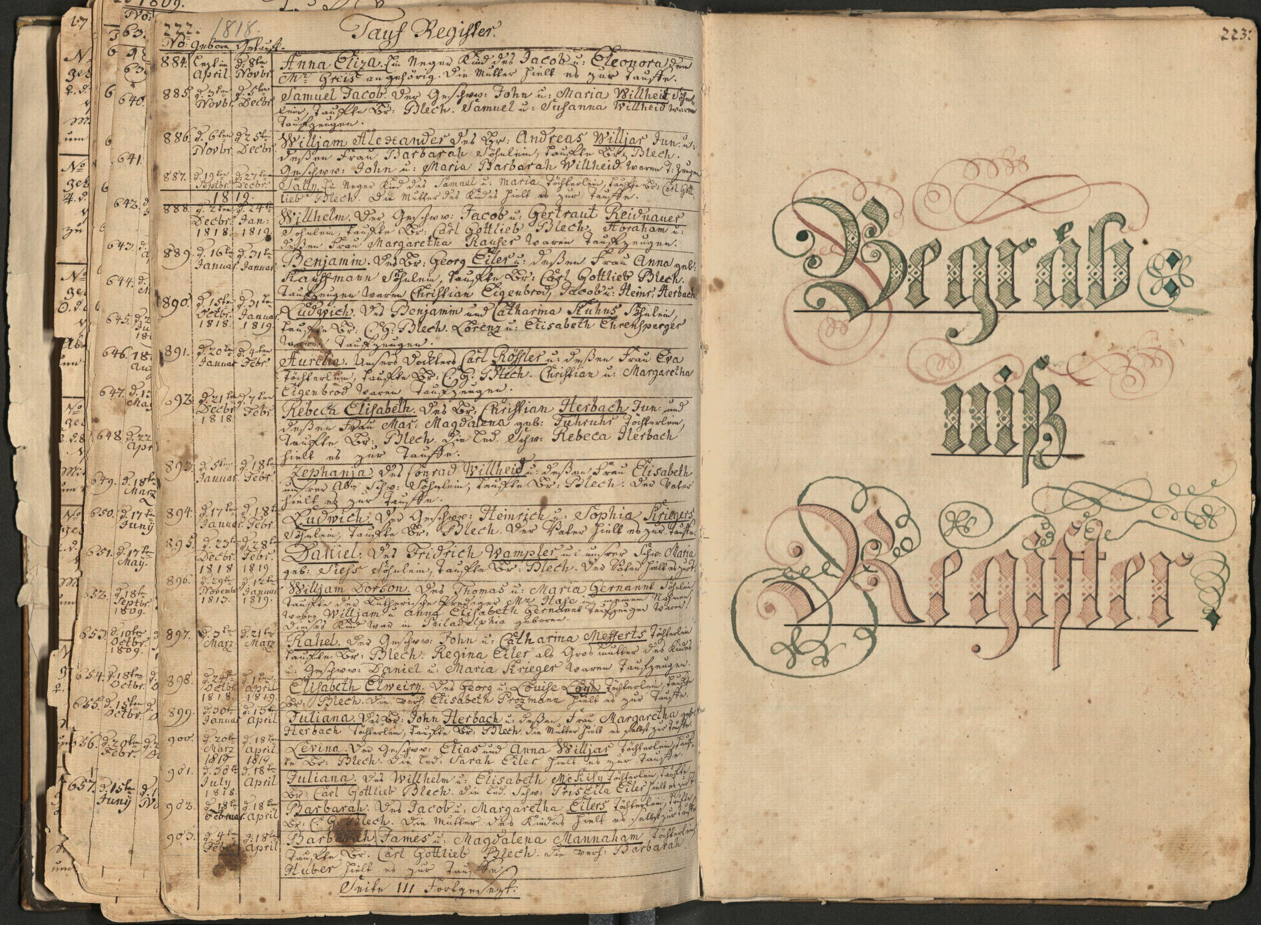 Digital Collections Spotlight #24: Moravian Church Registers
